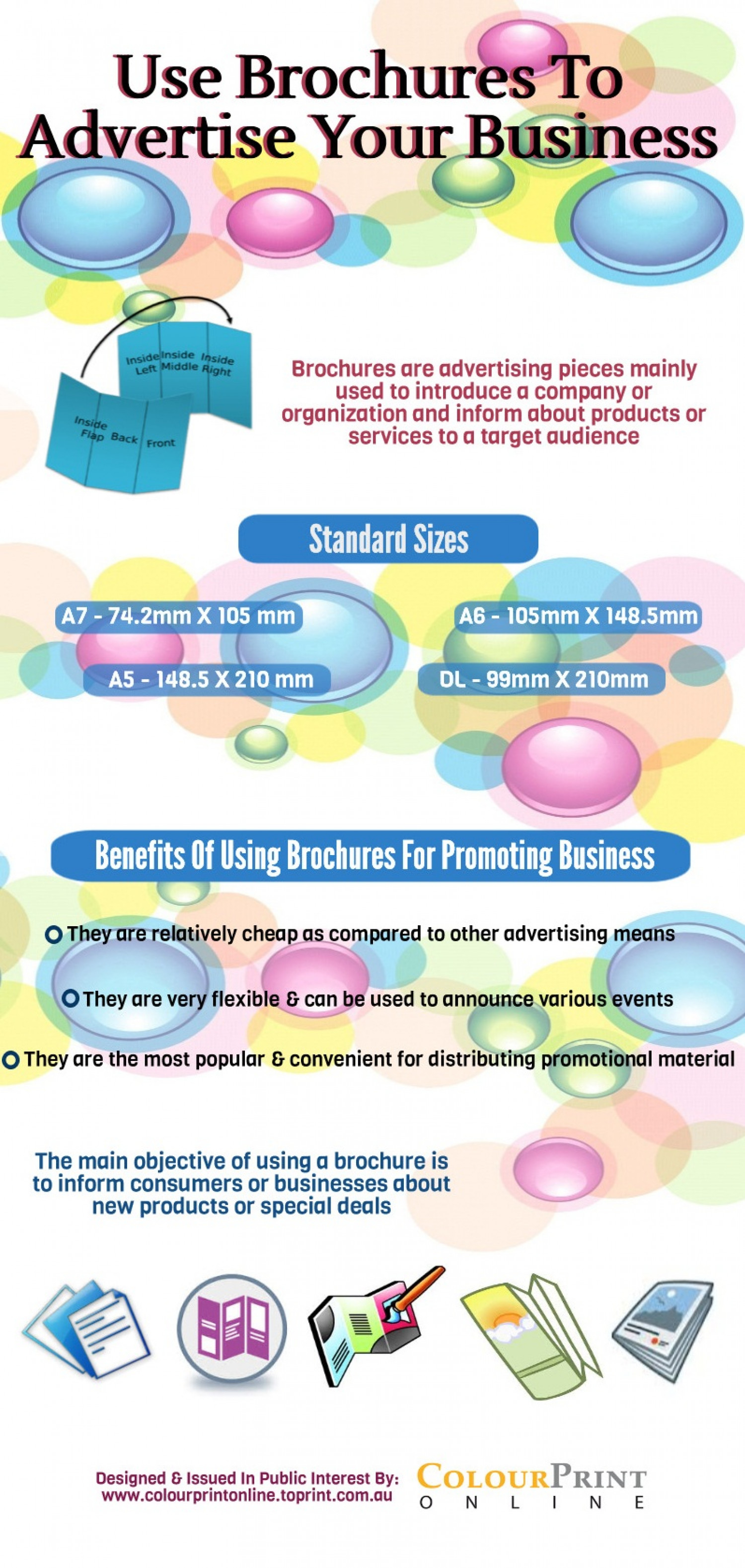 Use Brochures To Advertise Your Business Infographic