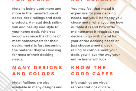 Use Metal made Deck Rails for Long Lifetime Infographic
