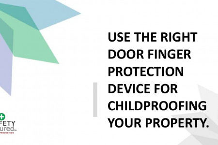 Use the right door finger protection device for childproofing your property. Infographic