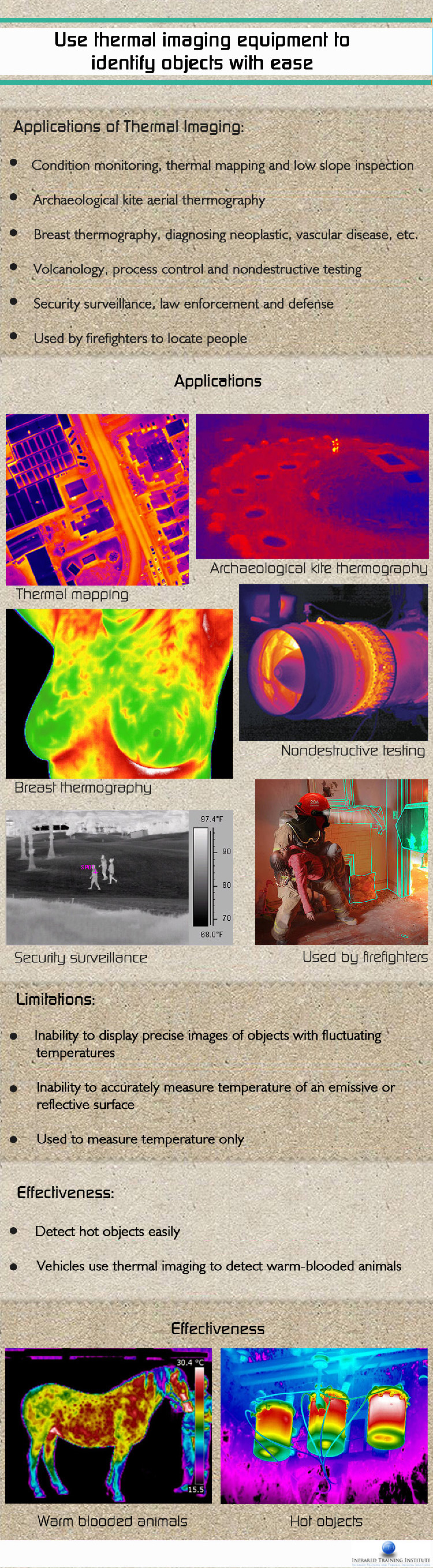 Use thermal imaging equipment to identify objects with ease Infographic