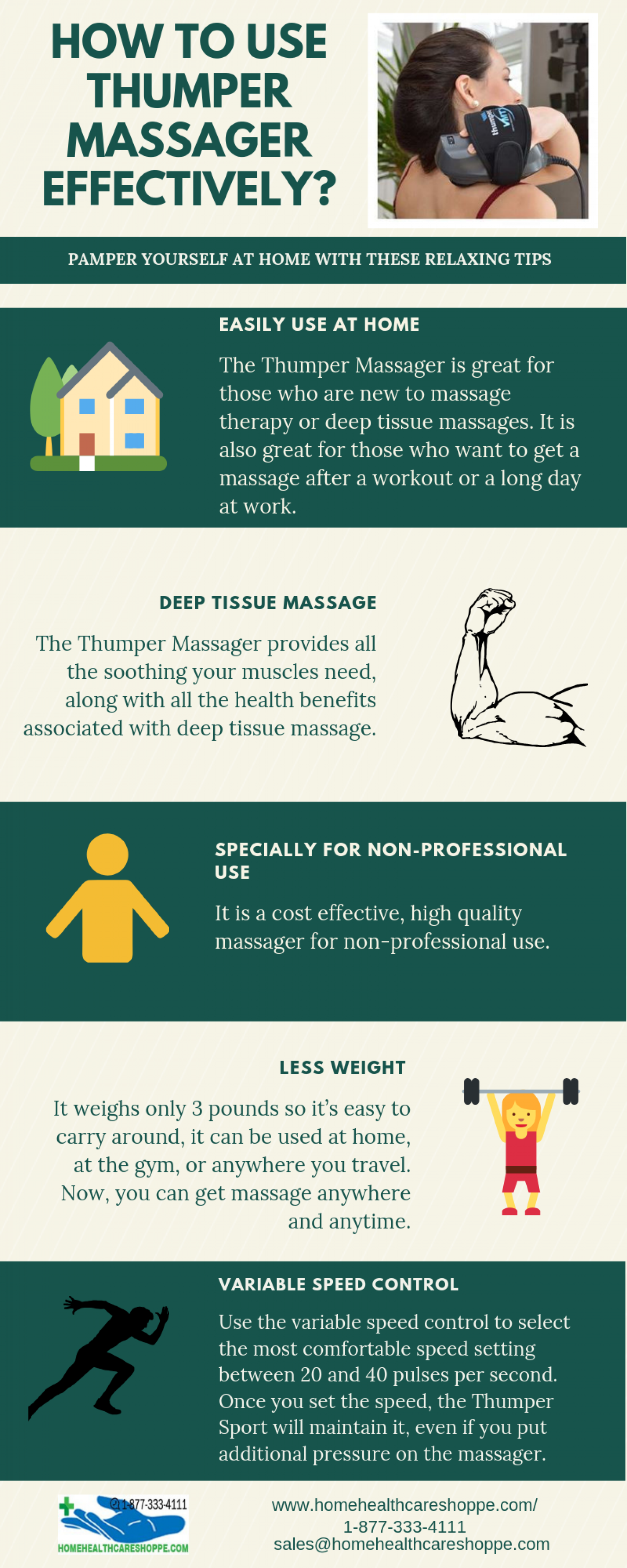 Use Thumper Massager Effectively  Infographic