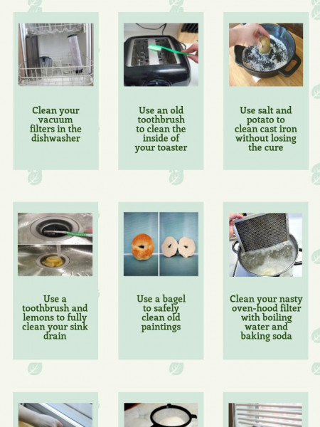 Useful Cleaning Tips Infographic