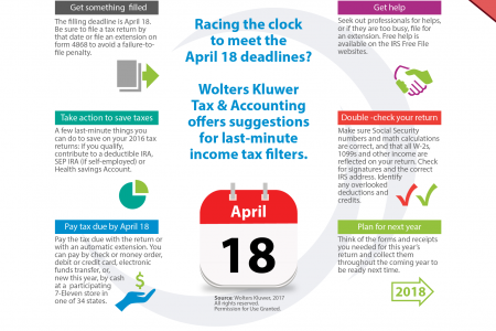 Useful last-minute Tax Filling Tips Infographic