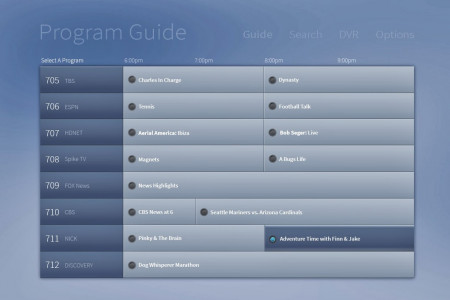 User Interface Design TV GUIDE Infographic