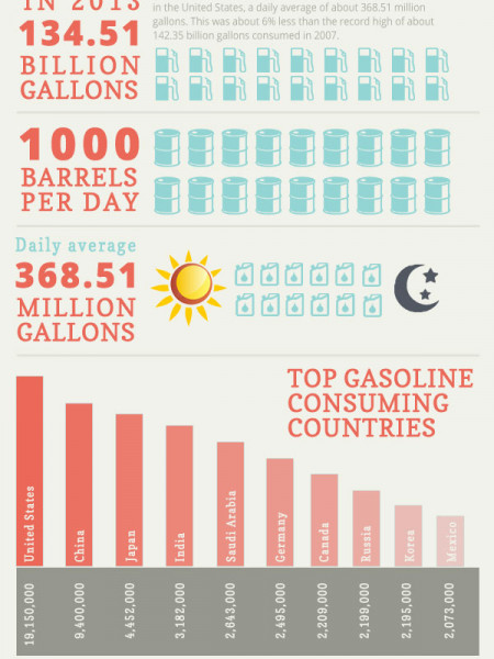 Uses of Gasoline in United States Infographic