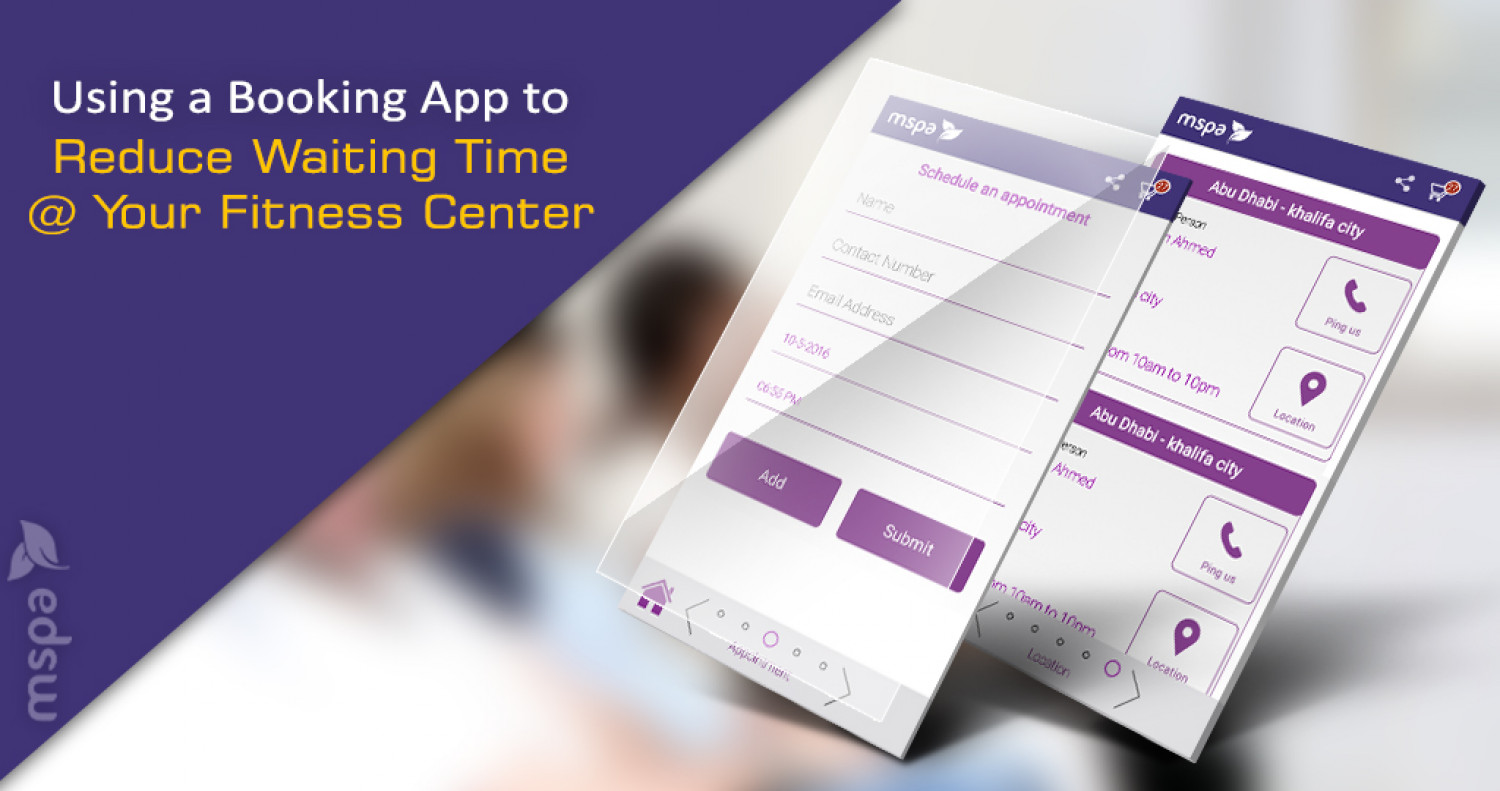 Using a Booking App to Reduce Waiting Time at Your Fitness Center Infographic
