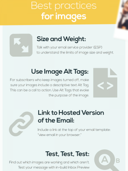 Using Images in Emails Infographic