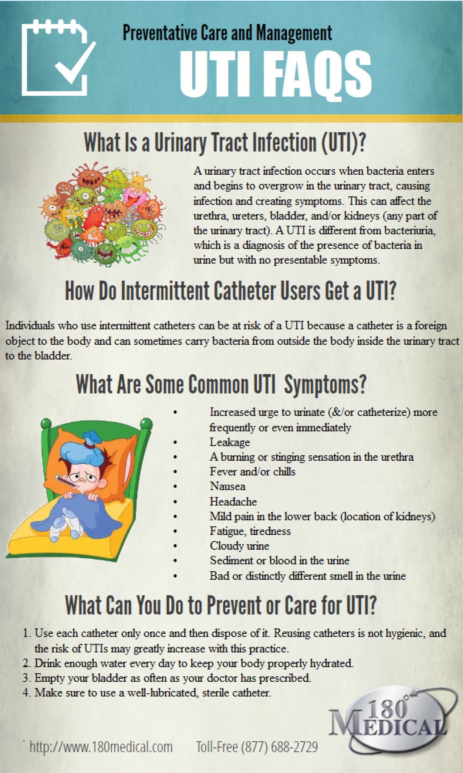 UTI Facts: Preventative Care and Management  Infographic