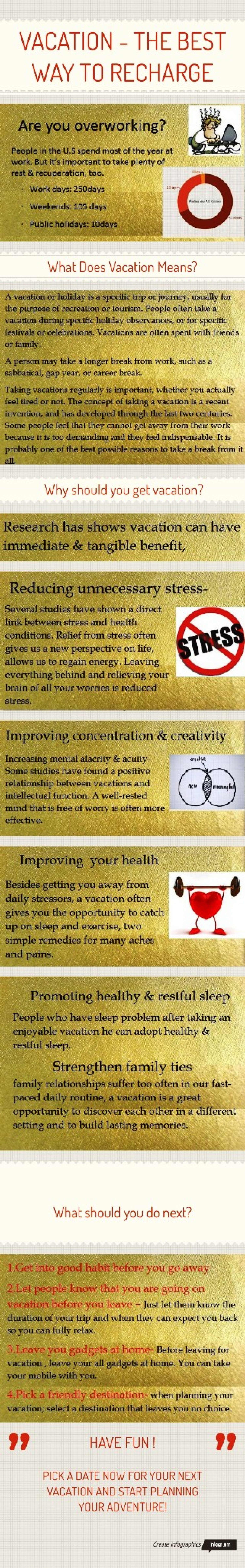 Vacation the best way to recharges Infographic