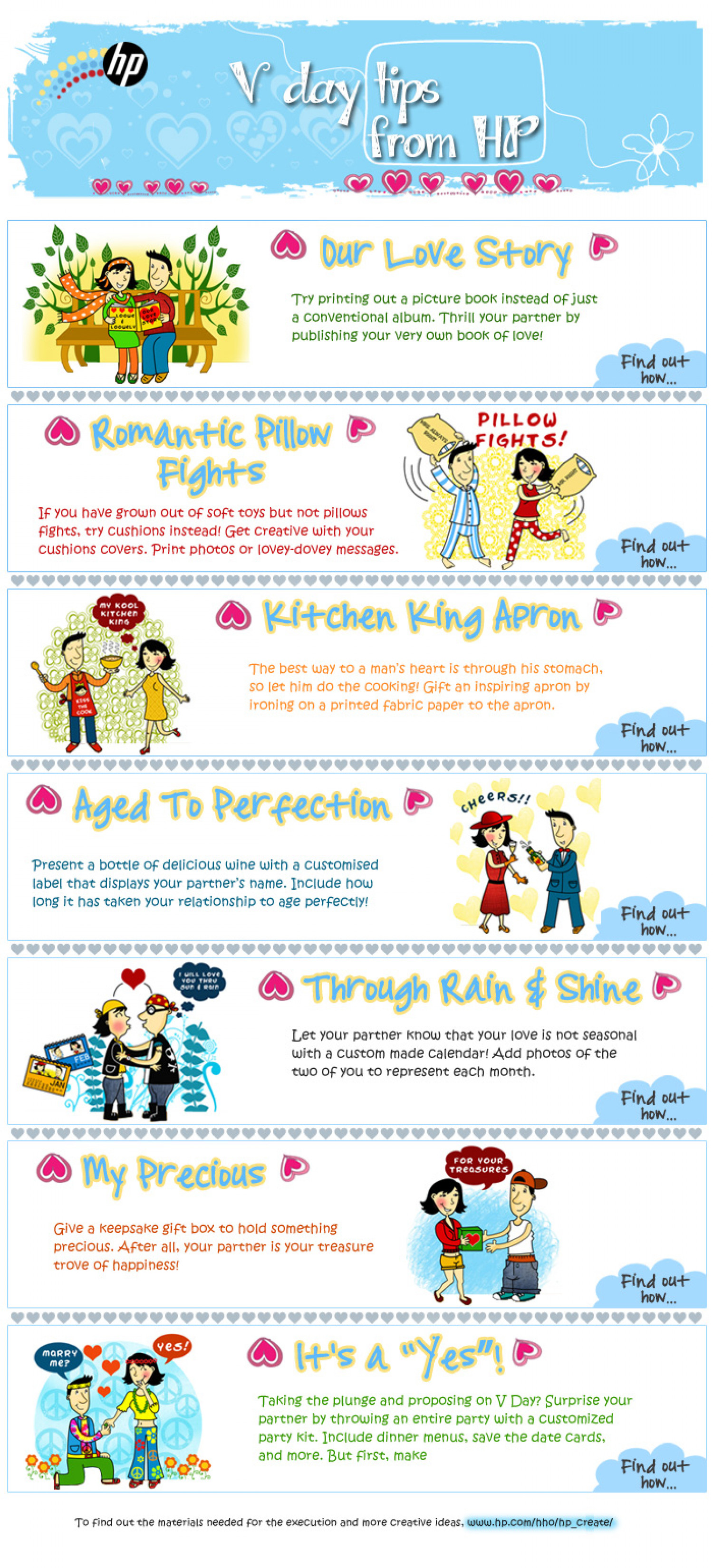 Valentine Day Tips from HP Infographic