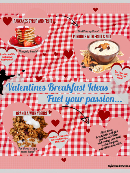 Valentines Breakfast Ideas, Fuel Your Passion! Infographic