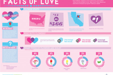 Valentine's Day: Facts of Love Infographic