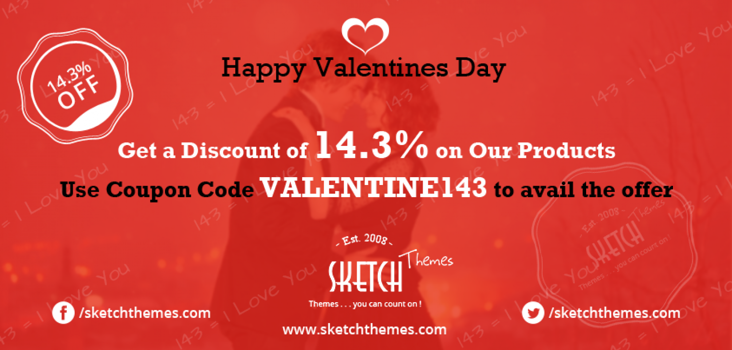 Valentines Discount Offer Infographic