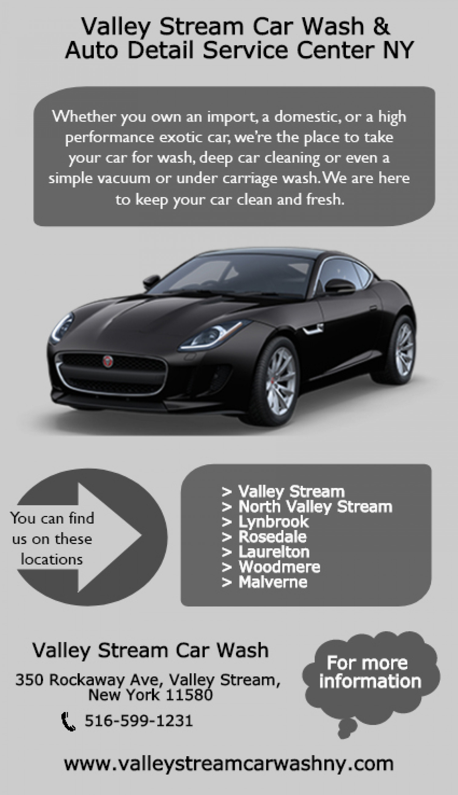 Valley Stream Car Wash & Auto Detail Service Center NY Infographic
