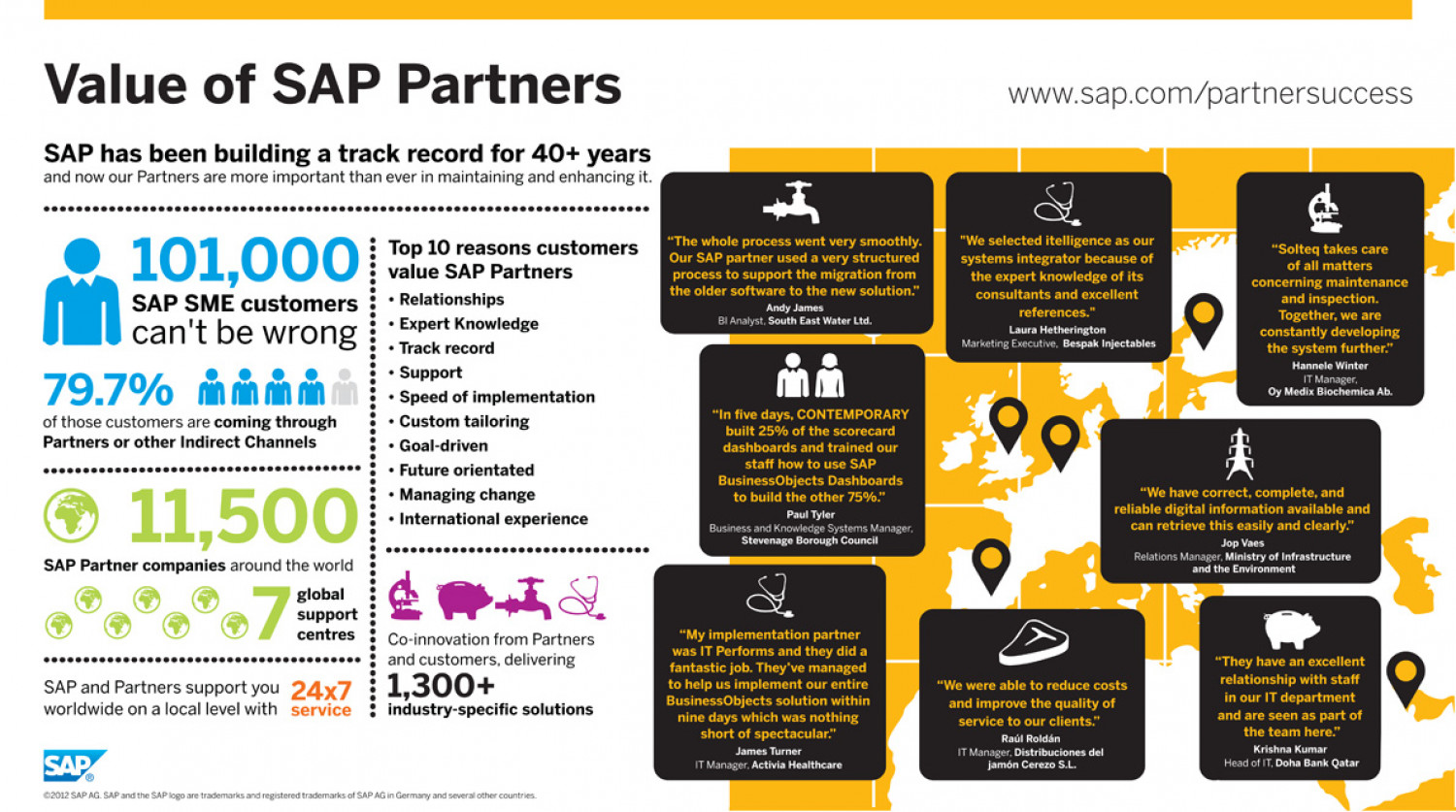 Value of SAP Partners Infographic