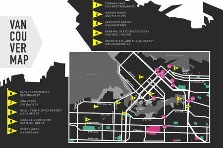 Vancouver Map Infographic