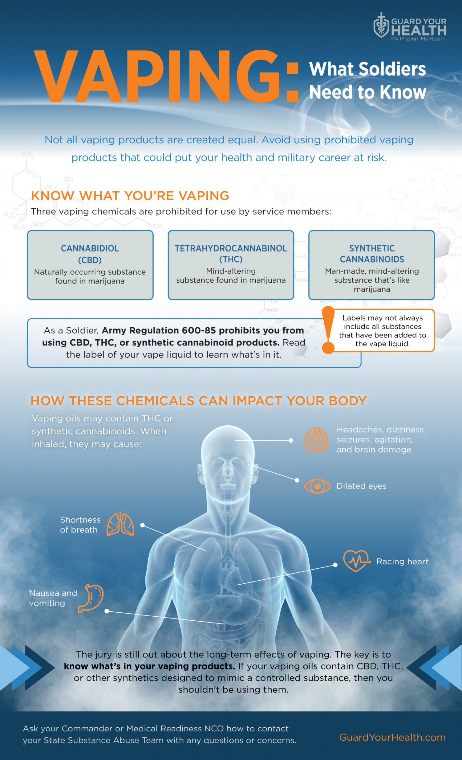 Vaping: What Soldiers Need to Know Infographic