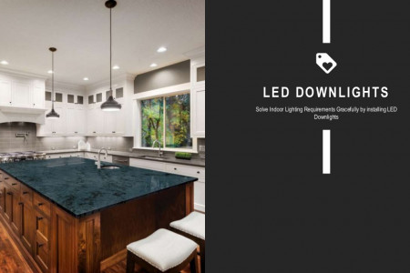 Variable Shape & Size LED Downlights Online Infographic