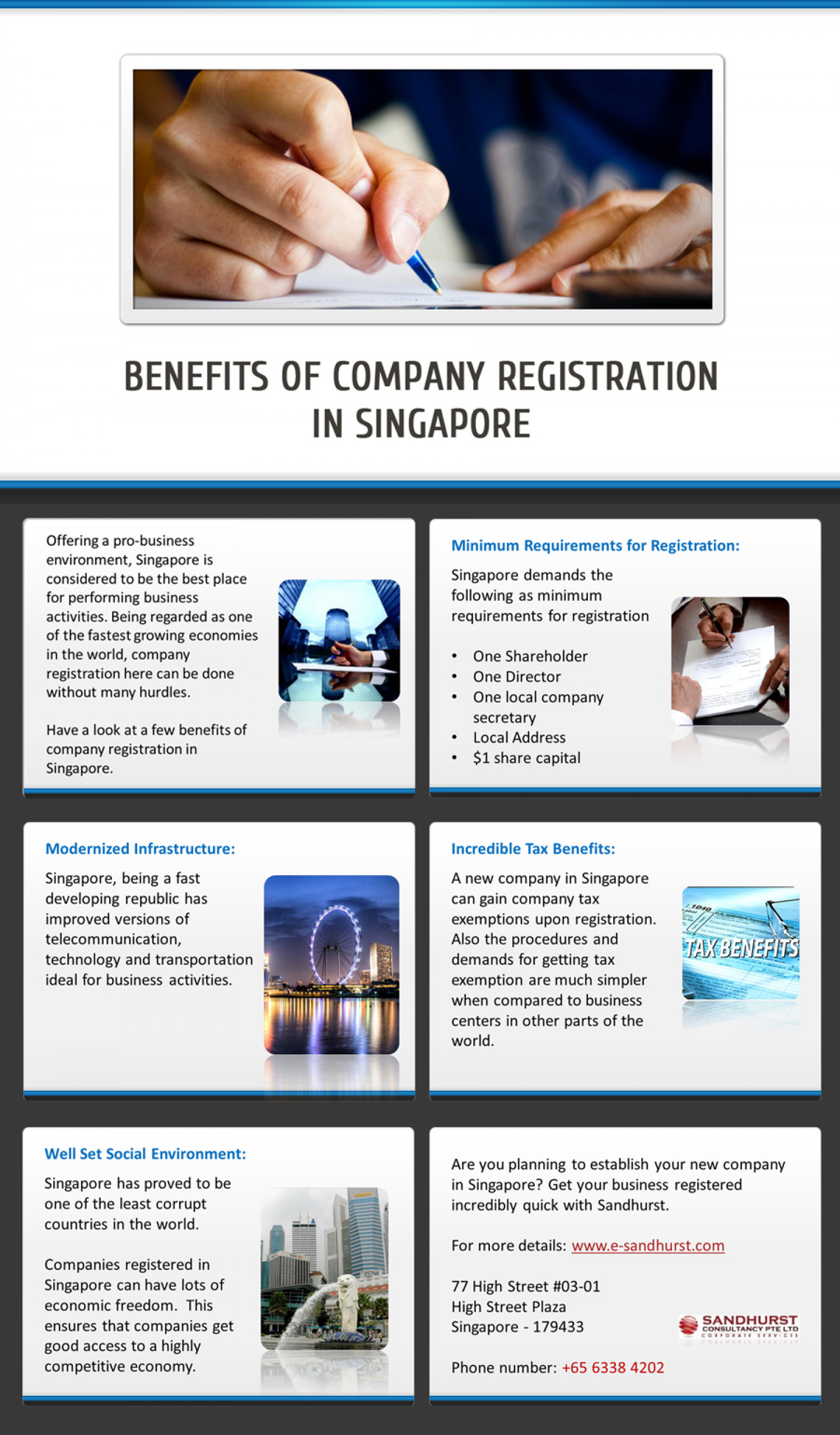 Various Benefits of Singapore company registration Infographic