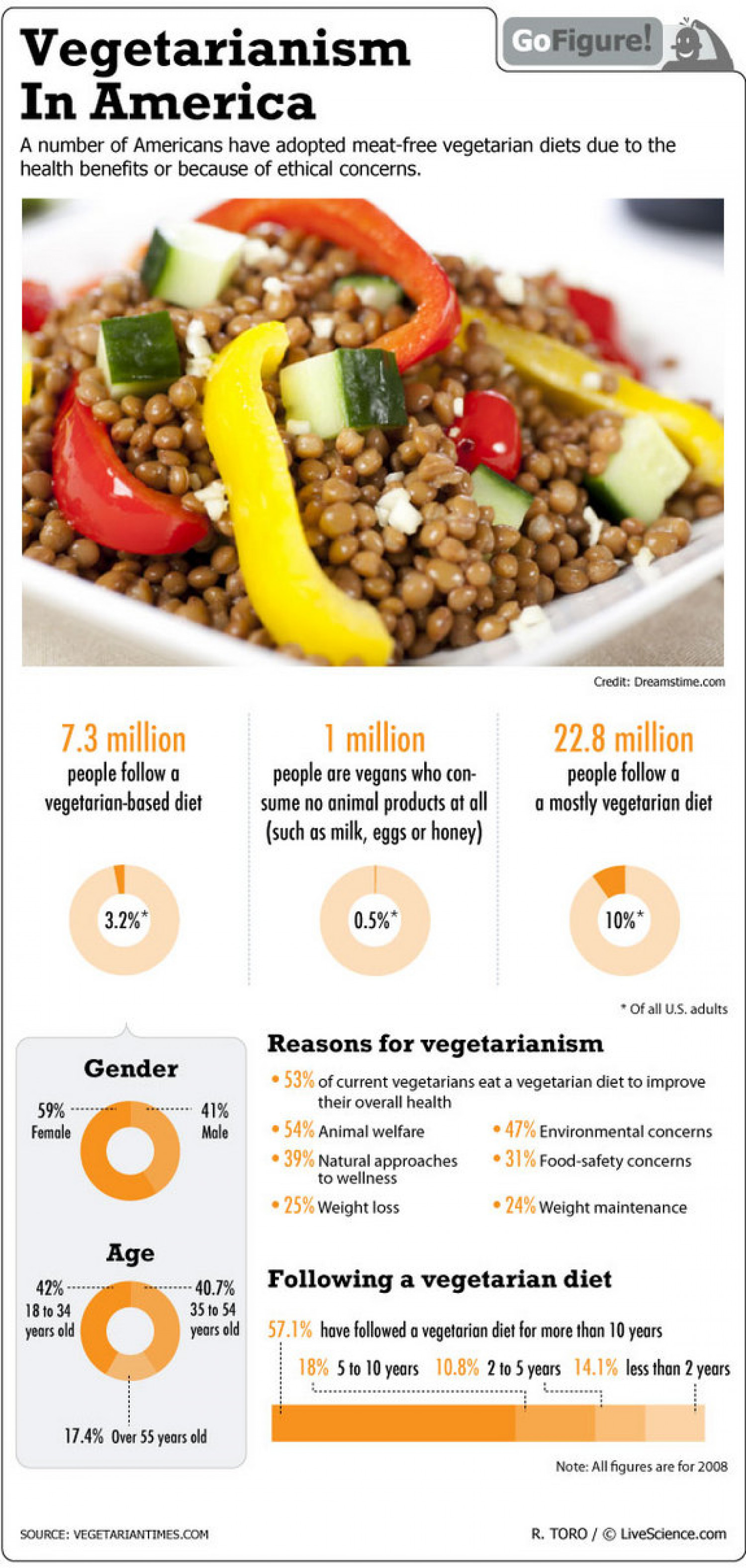 Vegetarian Diet Preferred by Americans Infographic