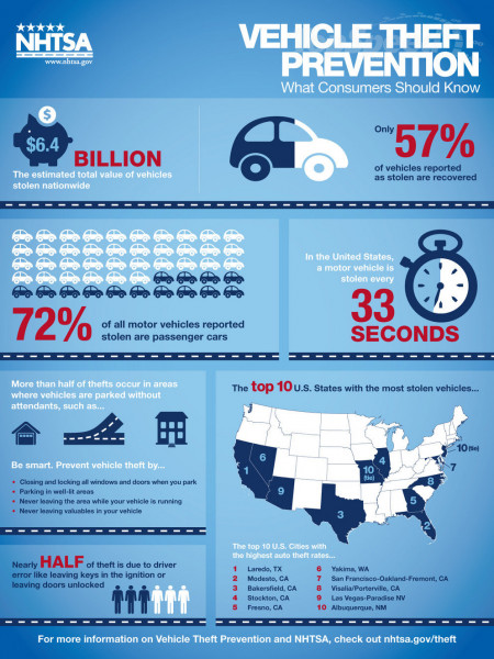 Vehicle Theft Protection: What Consumers Should Know Infographic