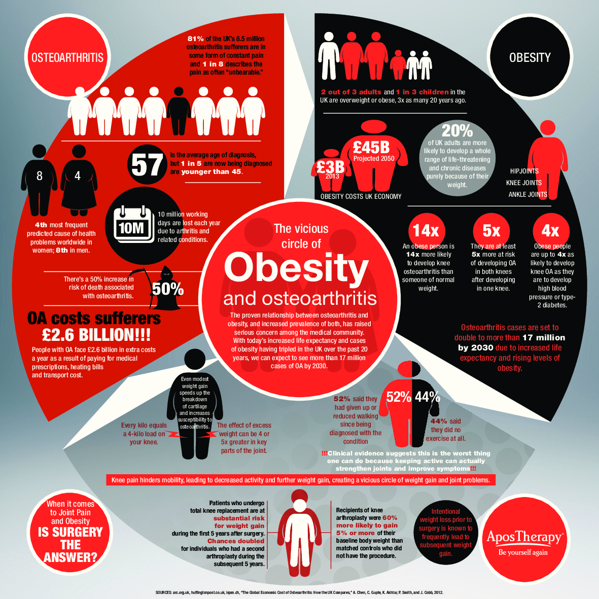 Vicious Circle Of The O S Obesity And Osteoarthritis Visual Ly
