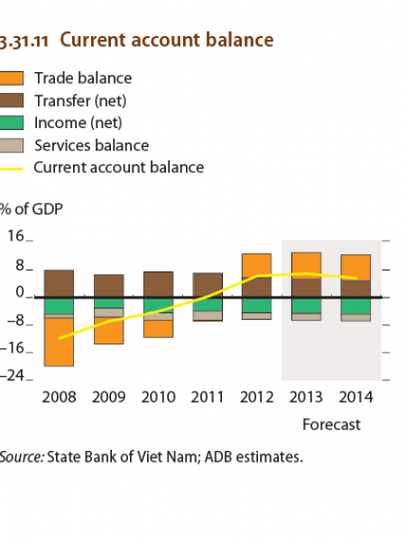 Viet nam : Current Account Balance Infographic