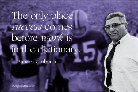 Vince Lombardi's famous work ethic Infographic