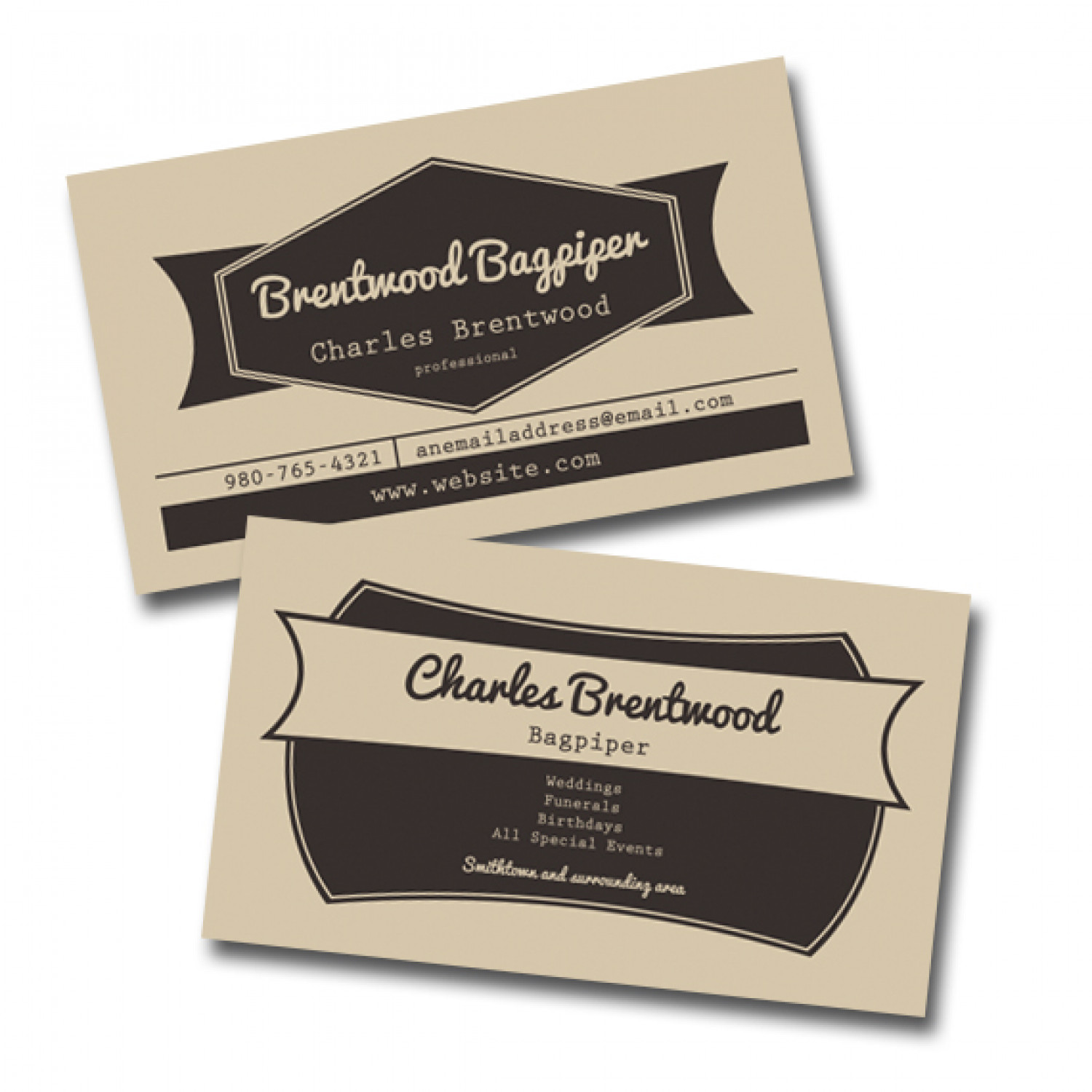 Vintage style business card | Visual.ly