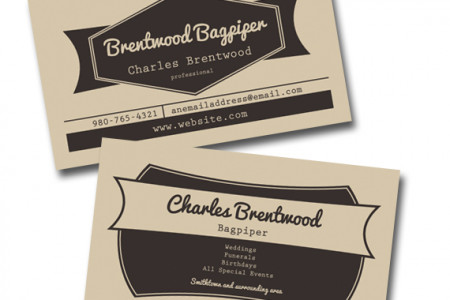 Vintage style business card Infographic