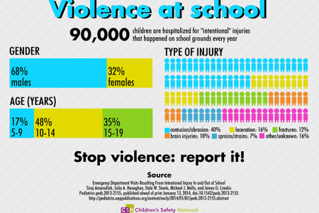 Violence at school Infographic