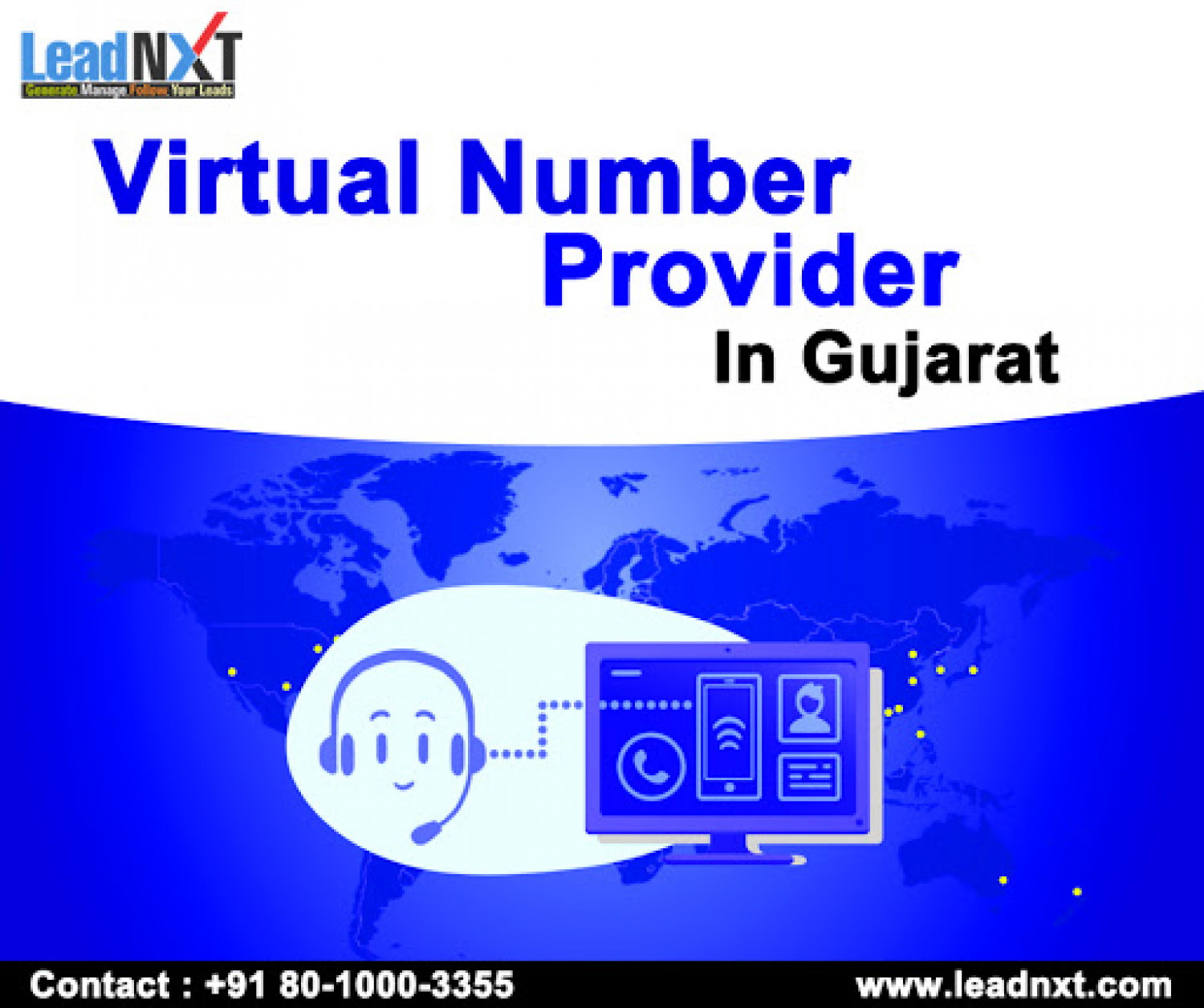 Virtual Number Provider in Gujarat Infographic