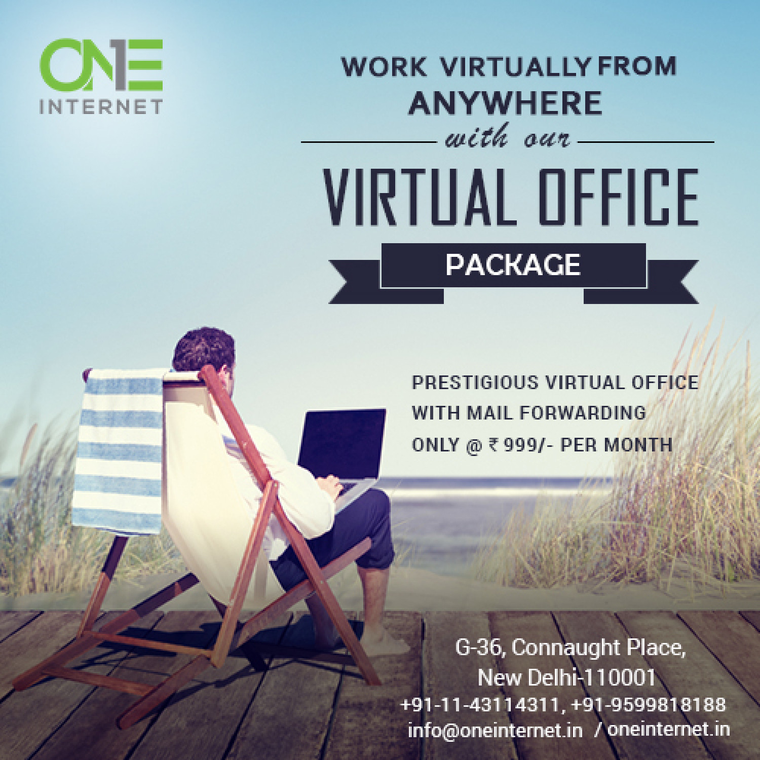 Awesome Virtual Office Space Infographic