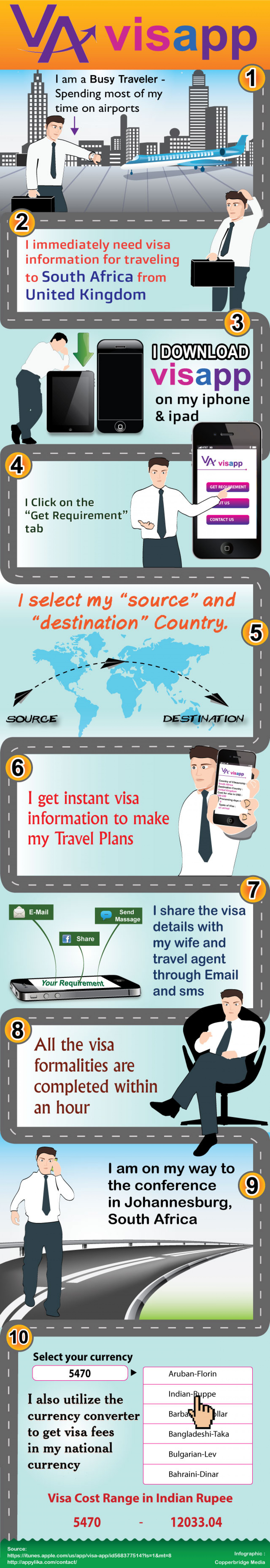 Visa mobile Application Infographic