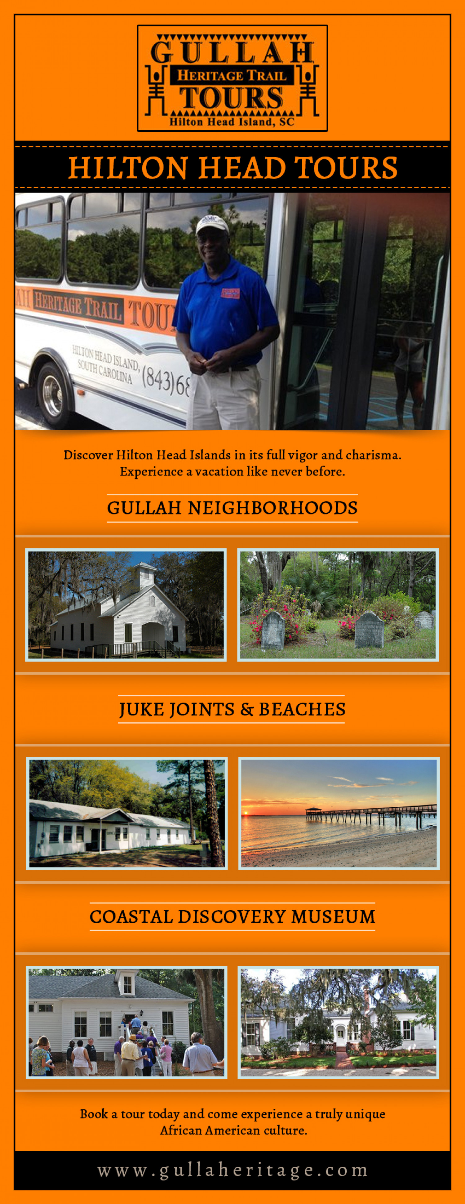 Visit Gullah Geechee For A New Experience Infographic