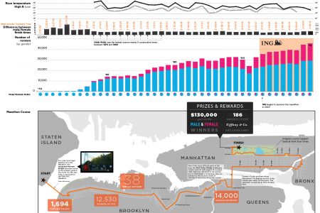Visualizing the ING NYC Marathon  Infographic
