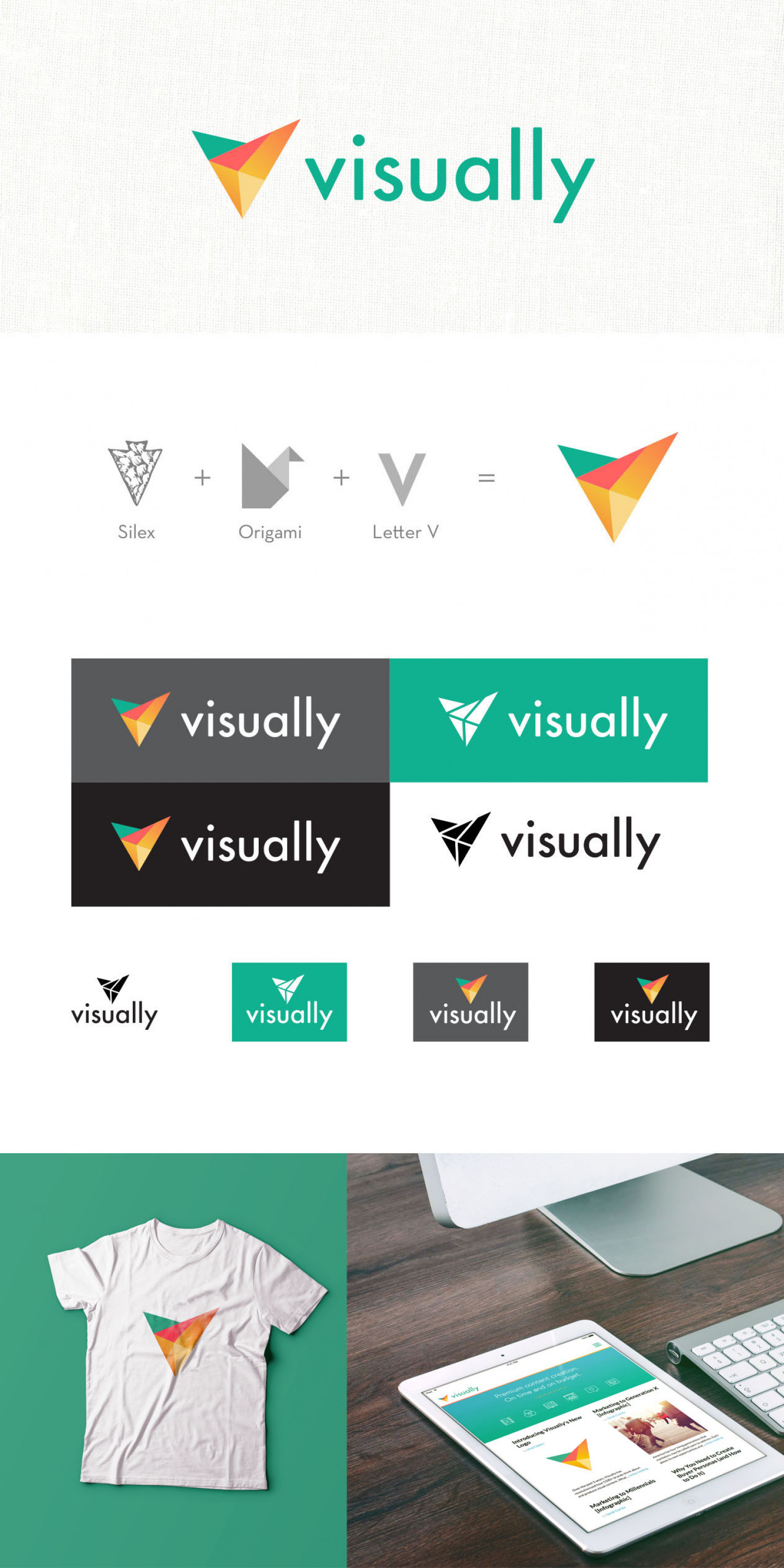 Visually logo Infographic