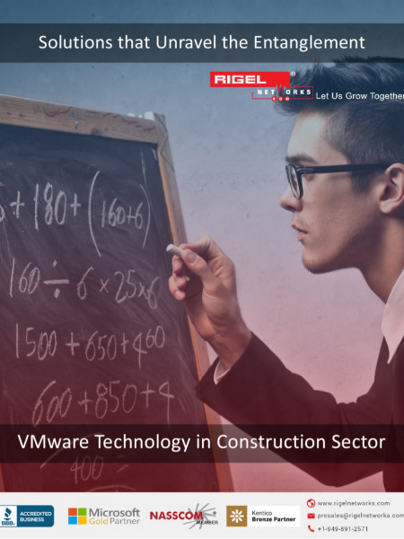 VMware Technology in Construction Sector Infographic