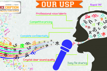 Voicecrption- Our USP Infographic