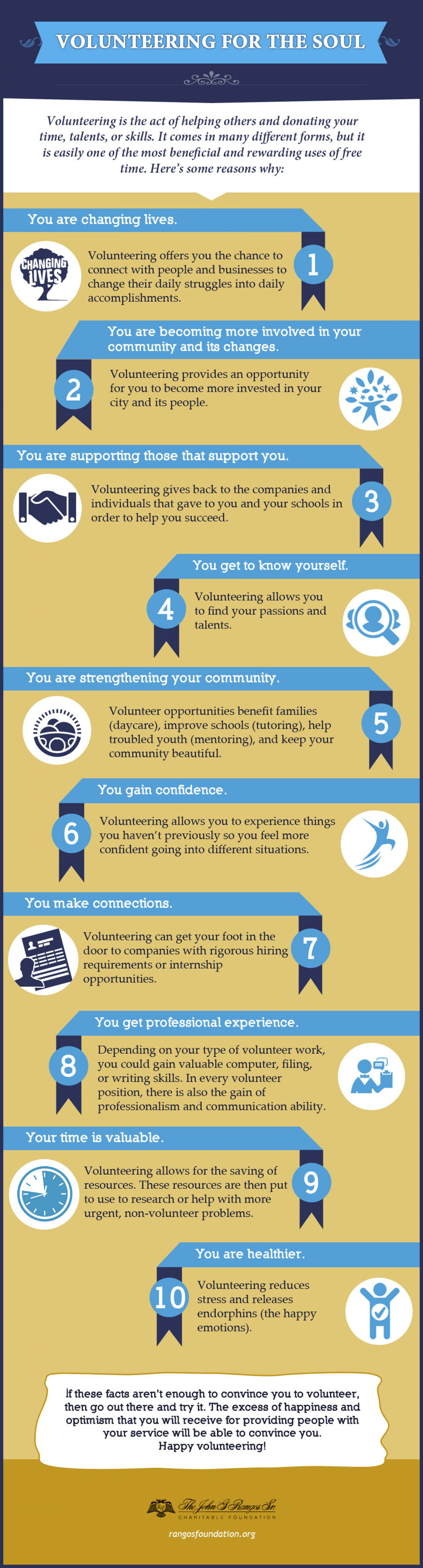 Volunteering for the Soul  Infographic