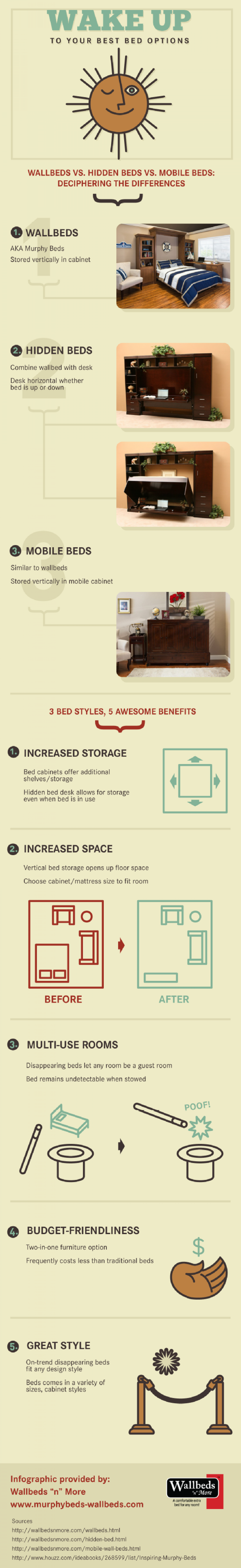 Wake Up to Your Best Bed Options Infographic