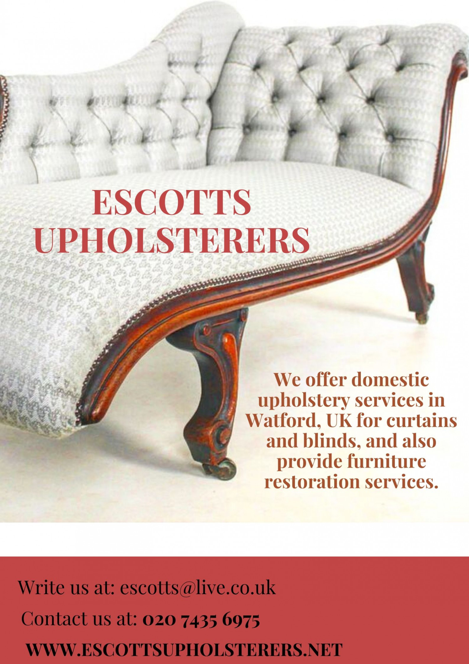 Want an upholstery service in Watford, UK? Infographic