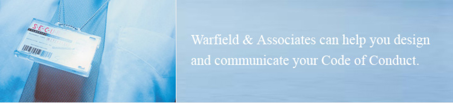 Warfield & Associates: Code of Conduct Services Infographic