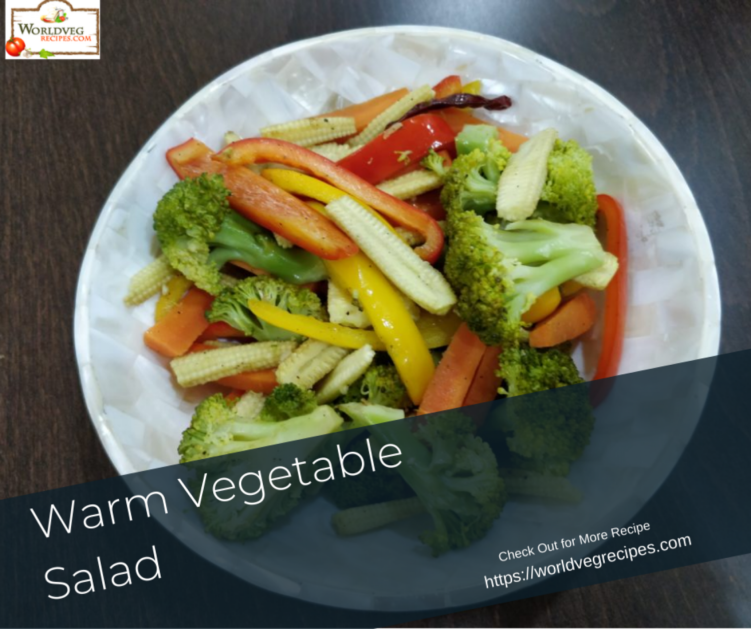 Warm Vegetable Salad Infographic