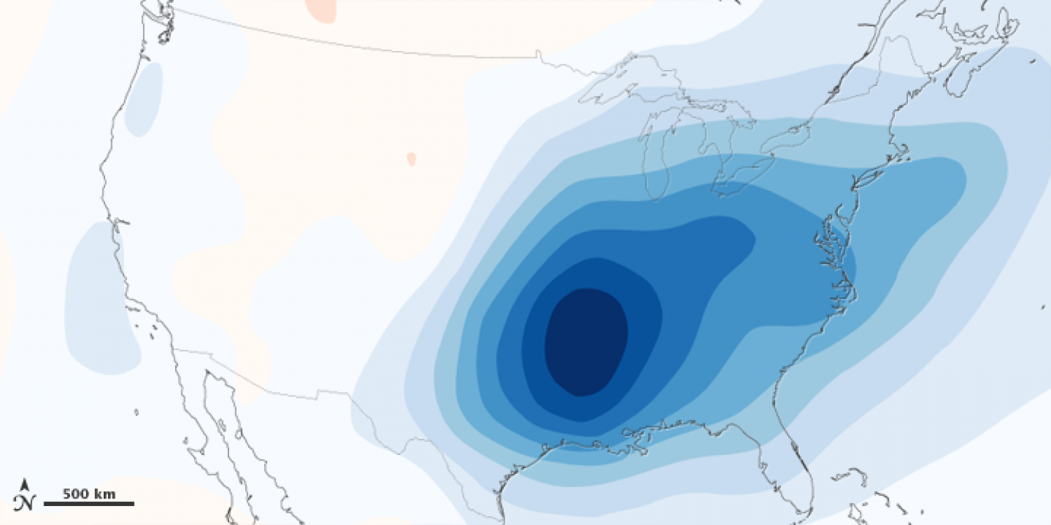 """""""Warming Hole"""" Over the Eastern U.S. Due to Air Pollution Infographic"""