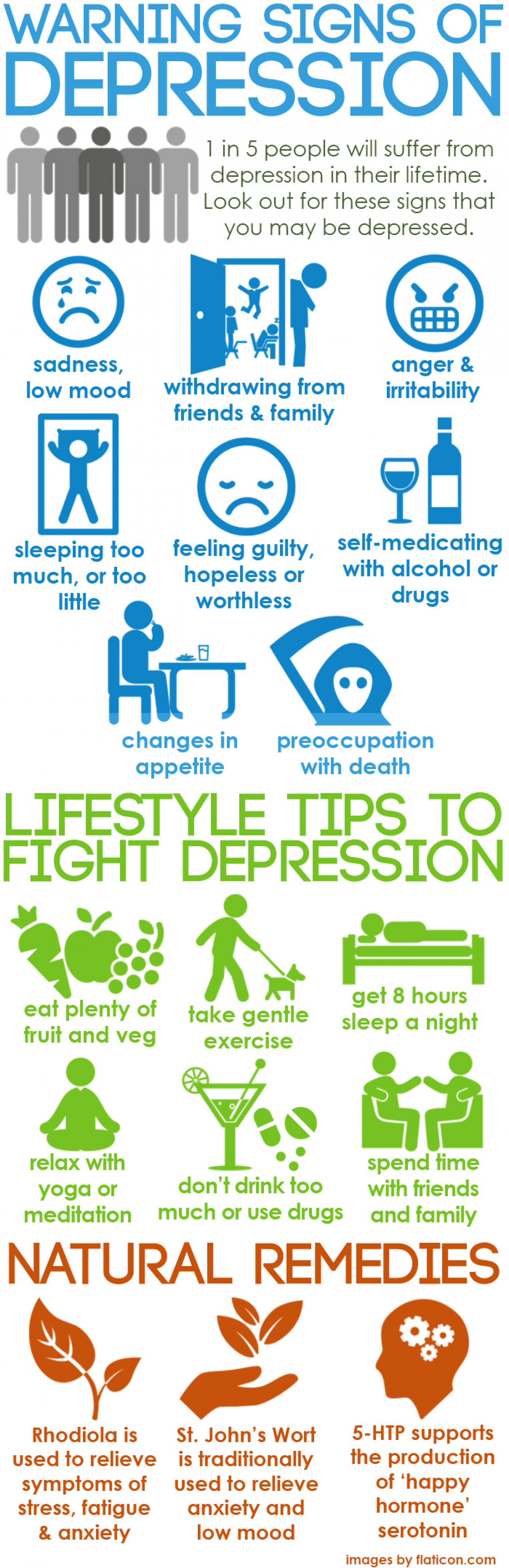 Warning Signs of Depression Infographic