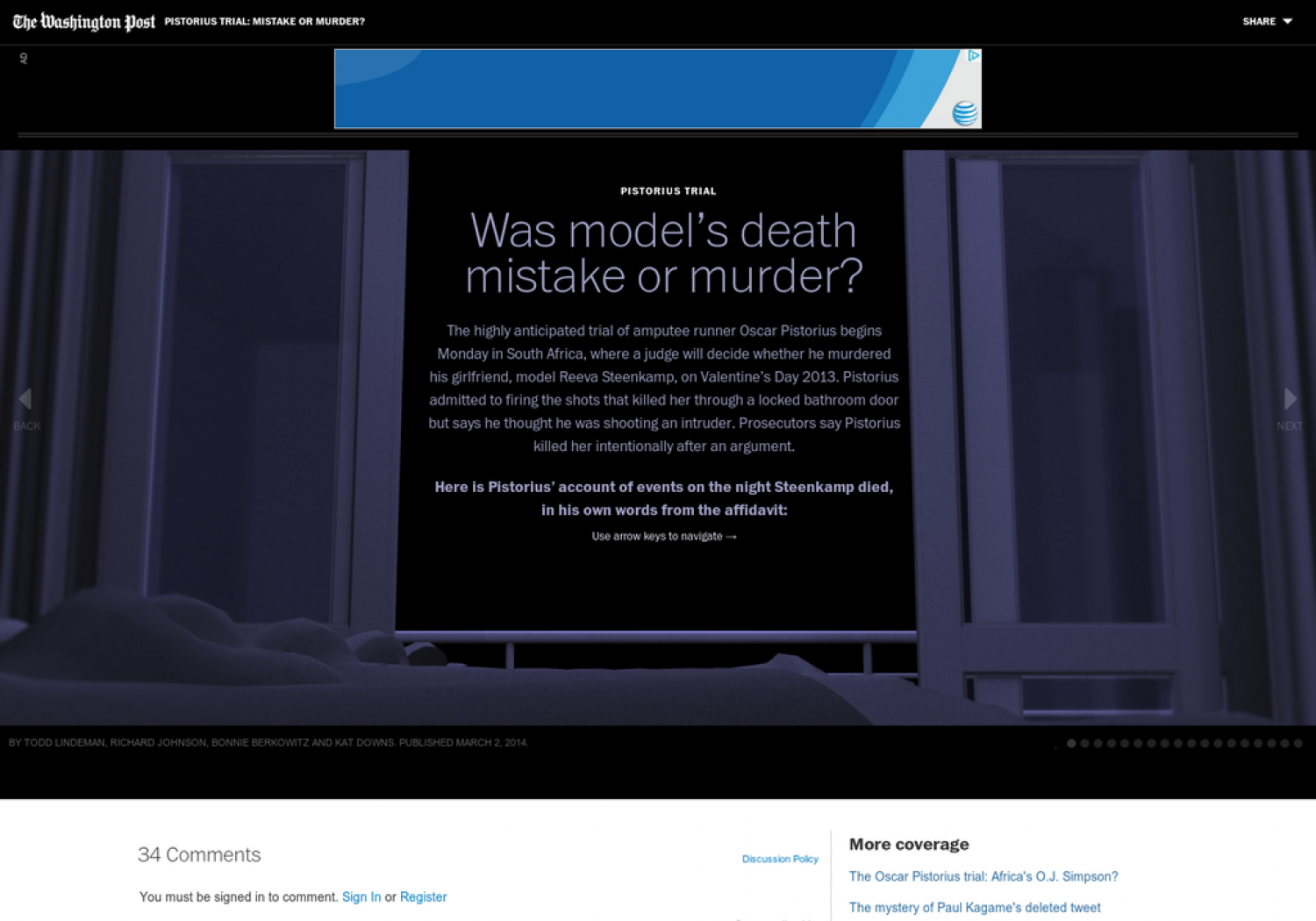 Pistorius Trial: Was Model's Death Mistake or Murder? Infographic