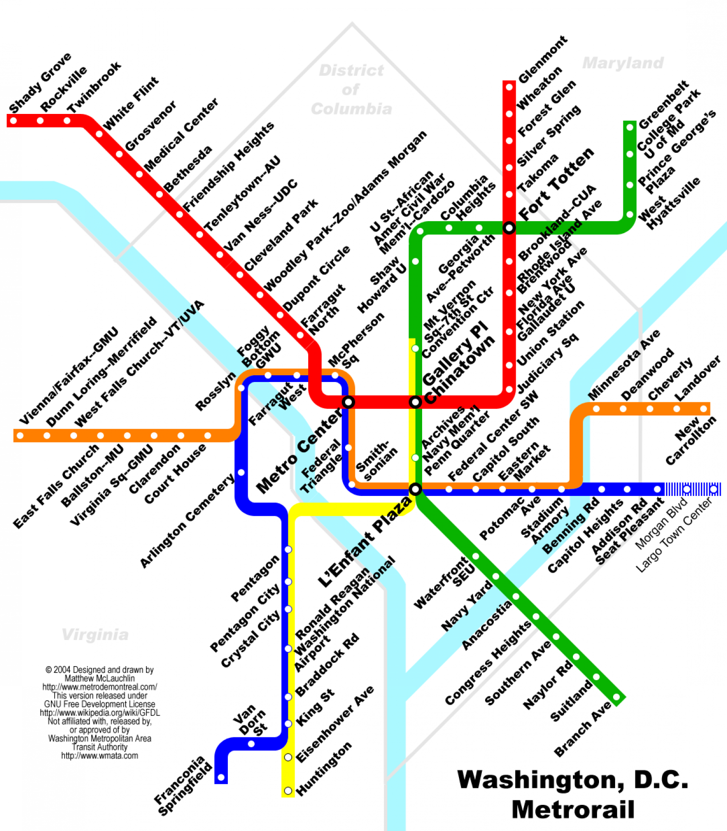 Washington D C Metro Map Visual Ly