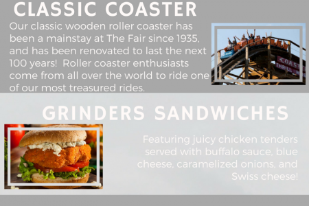 Washington State Fair Food & Rides Infographic