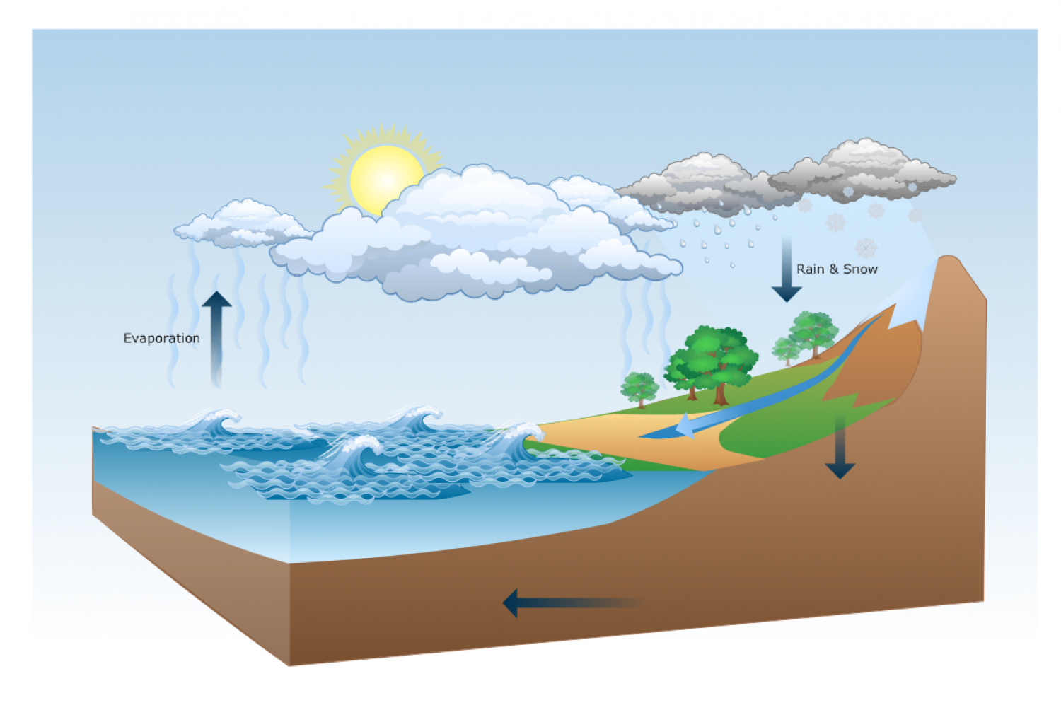 Water cycle visual water cycle infographic ccuart Image collections